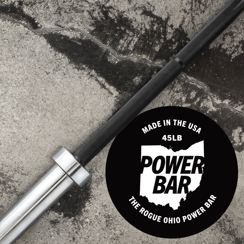 Rep Fitness 9-Bar Holder with barbells loaded