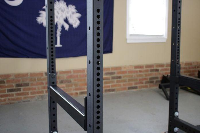 Rogue R3 Power Rack Westside Hole Spacing in Garage Gym