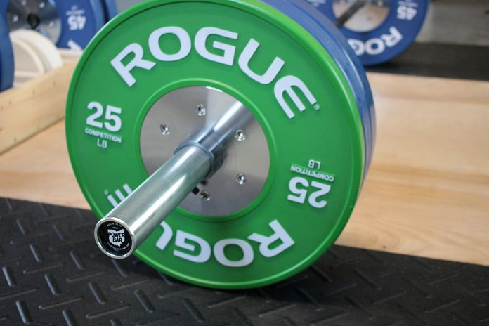 Rogue Ohio Power Bar with Rogue Competition Bumpers