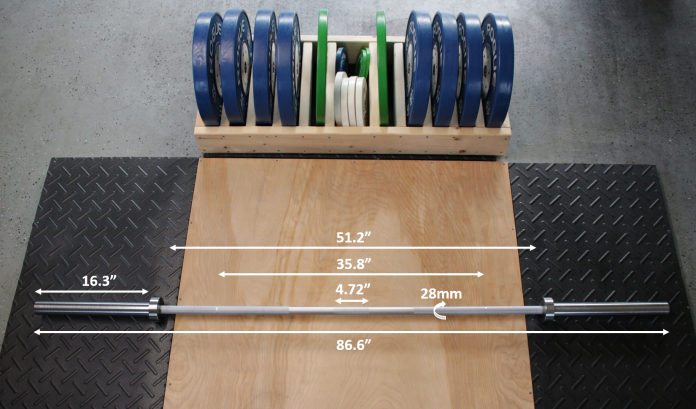 Fringe Sport Weightlifting Bar Measurements
