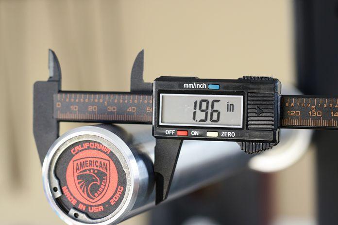 California Bar Sleeve Diameter Garage Gym Lab