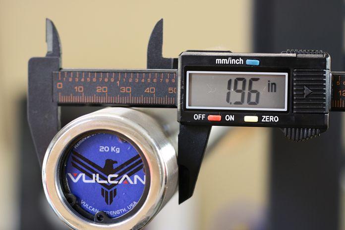 Vulcan Stainless Steel Power Bar Sleeve Diameter Garage Gym Lab