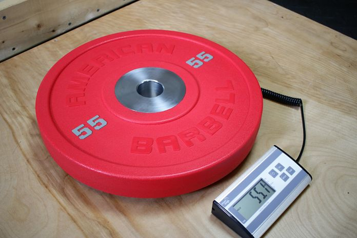 American Barbell Urethane 55 lb Weight Garage Gym Lab