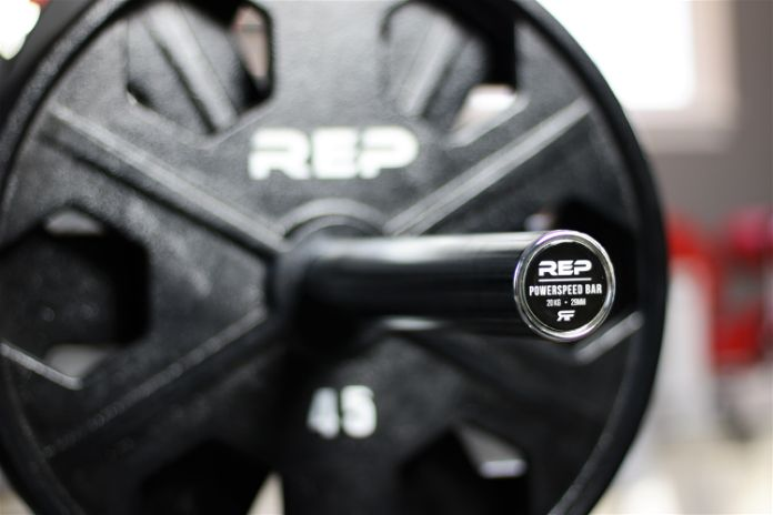 Rep Fitness PowerSpeed Bar Angle Garage Gym Lab