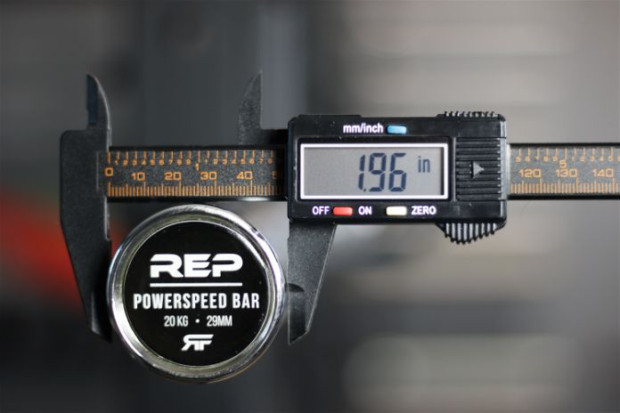 Rep Fitness PowerSpeed Bar Sleeve Diameter Garage Gym Lab