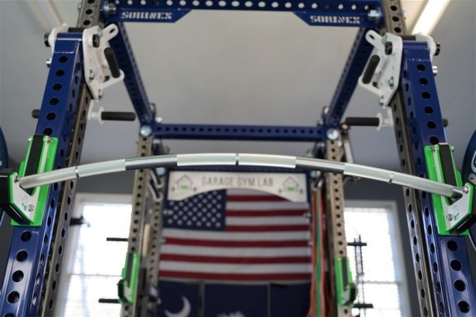 Vulcan Buffalo Bar - Upward View - Garage Gym Lab