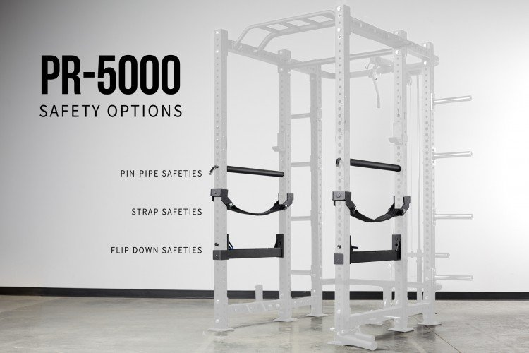 Rep Fitness PR-5000 Safety Options - Garage Gym Lab
