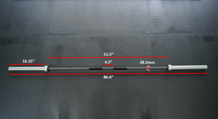 Bells of Steel Utility Bar - Measurements - Garage Gym Lab