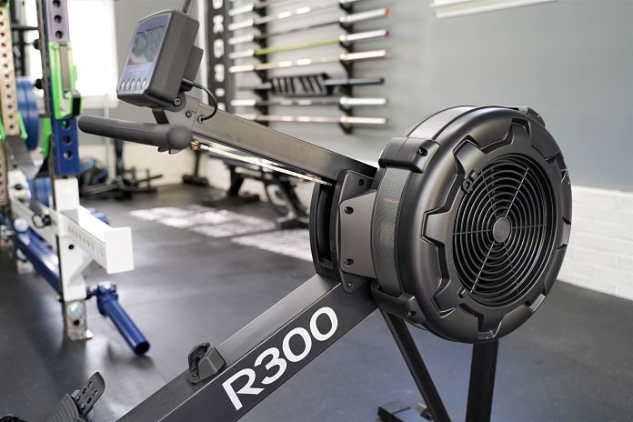 Body Solid R300 Rower - Angle 2 - Garage Gym Lab