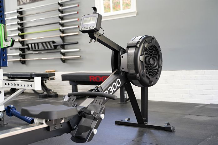 Body Solid R300 Rower - Angle - Garage Gym Lab