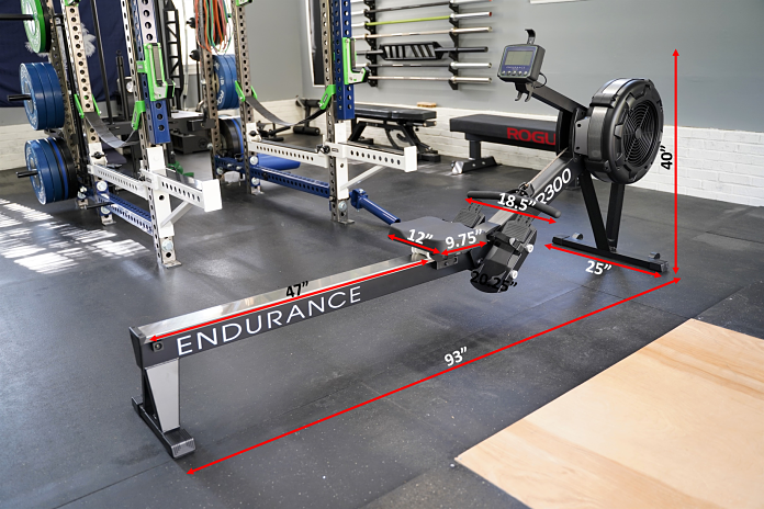 Body Solid R300 Rower - Dimensions - Garage Gym Lab