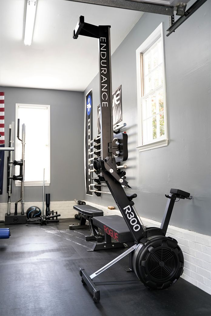Body Solid R300 Rower - Standing - Garage Gym Lab