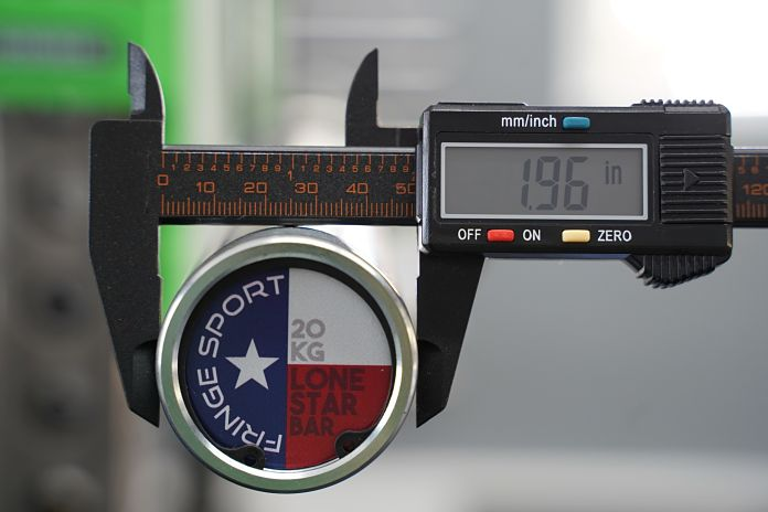 Fringe Sport Lone Star Power Bar - Shaft Diameter - Garage Gym Lab