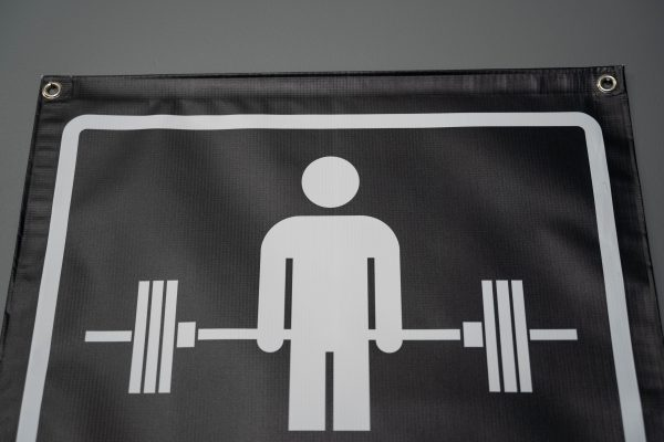Garage Gym Lab No Parking Banner - Black 3