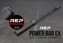 Rep Aggressive Stainless Power Bar - Garage Gym Lab