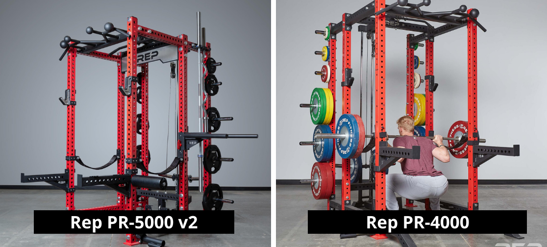Rep Fitness PR 5000 v2 vs. PR-4000 - Garage Gym Lab