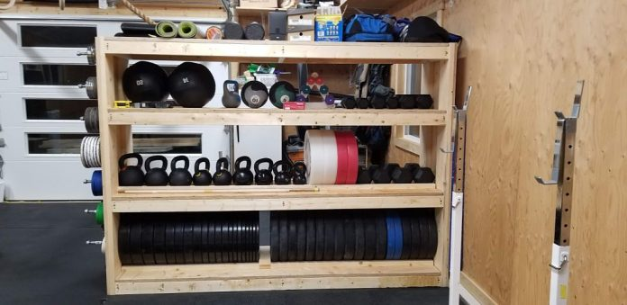 DIY Garage Gym Storage Rack - Cover