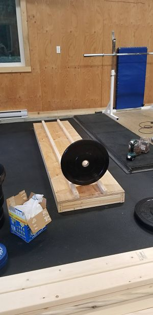 DIY Garage Gym Storage Rack - Progress 1