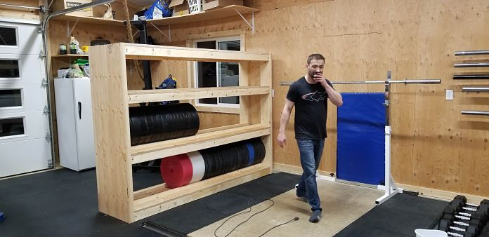 DIY Garage Gym Storage Rack - Progress 10