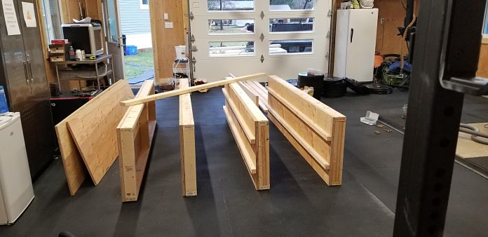 DIY Garage Gym Storage Rack - Progress 5