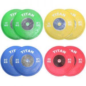 Titan Fitness KG Elite Color Bumper Plates