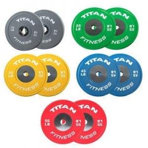 Titan Fitness LB Elite Color Bumper Plates
