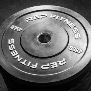 Rep Fitness Black Bumper Plates